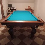 Home-lux 7ft Dąb Brąz 22-51 Simonis Blue Green Łuzy skórzane 022